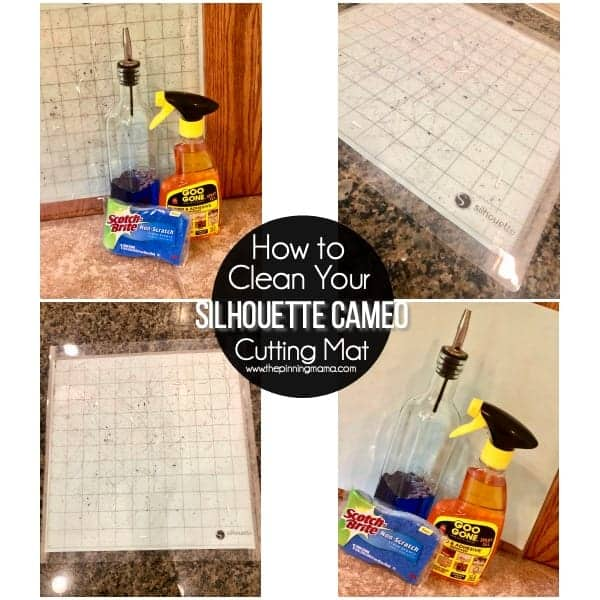 How to Clean Silhouette CAMEO Cutting Mat • The Pinning Mama