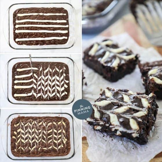 Quick and easy cream cheese swirl brownies are sure to be a crowd pleaser.