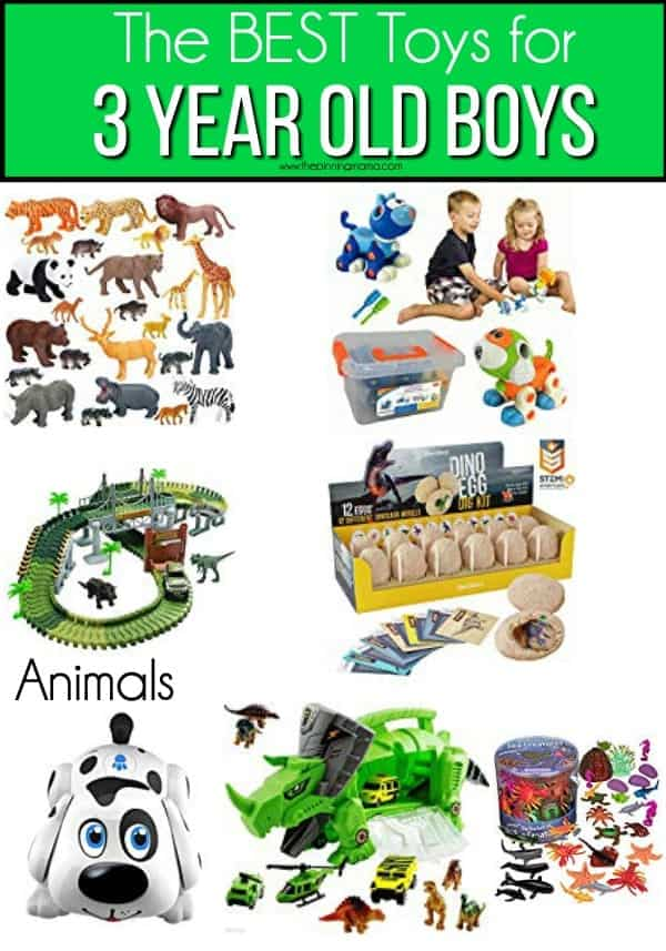 The BEST animals toys for 3 year old boys.