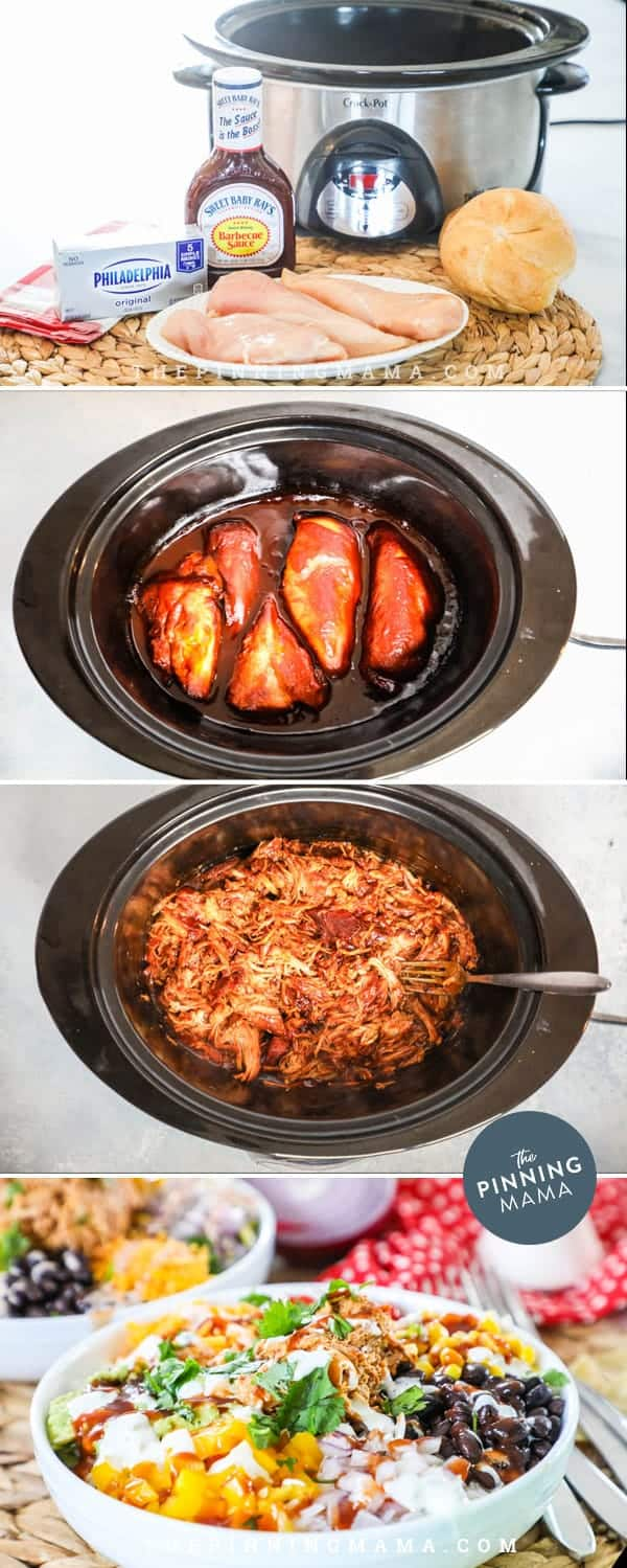 Steps for making BBQ Chicken Power Bowl.