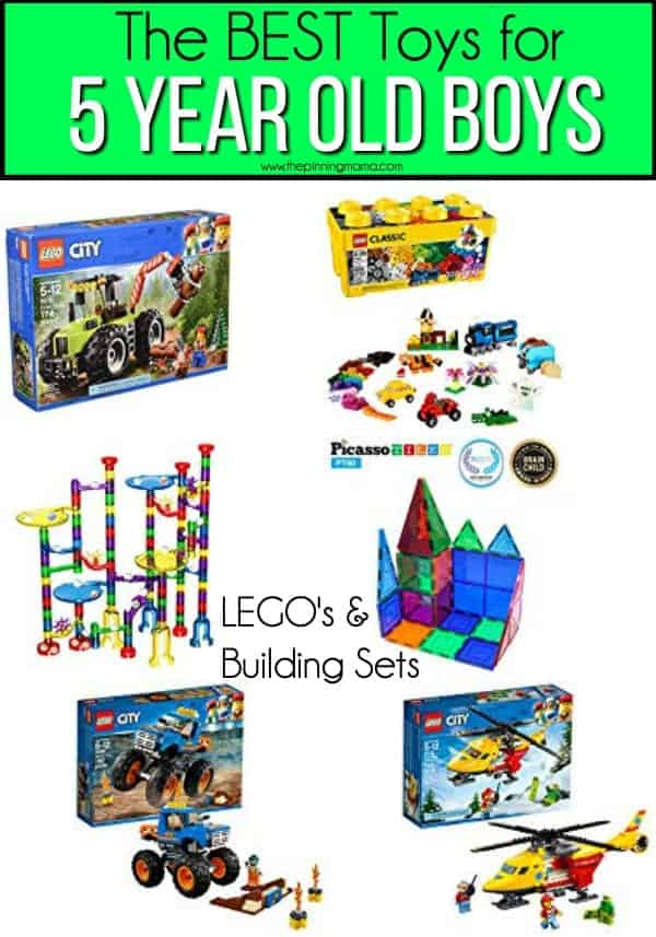The BEST LEGO's and Building Sets for 5 year old boys.