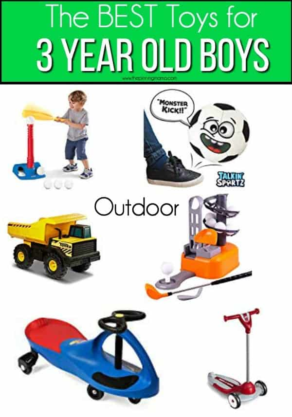 The BEST outdoor toy ideas for 3 year old boys.