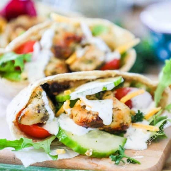 Recipe for Ranch Chicken Pitas