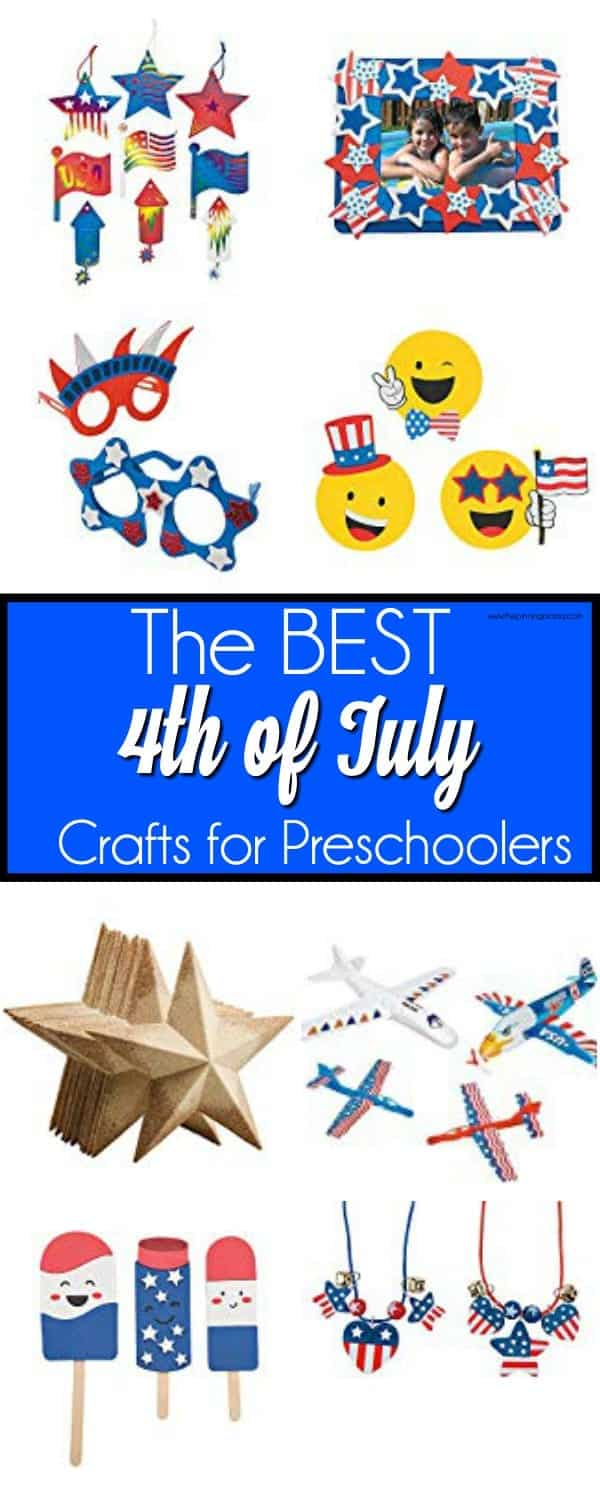 The BEST 4th of July crafts for preschoolers.