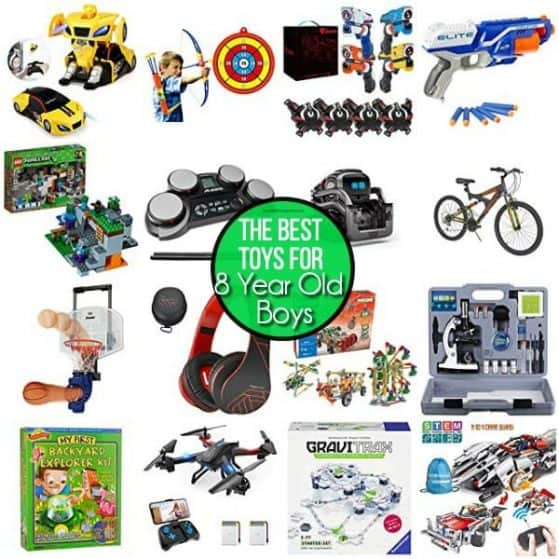 The BIG list of the BEST toy ideas for 8 year old boys.
