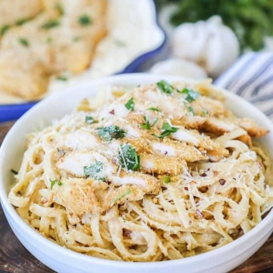 Recipe for Easy Fettuccini Alfredo.