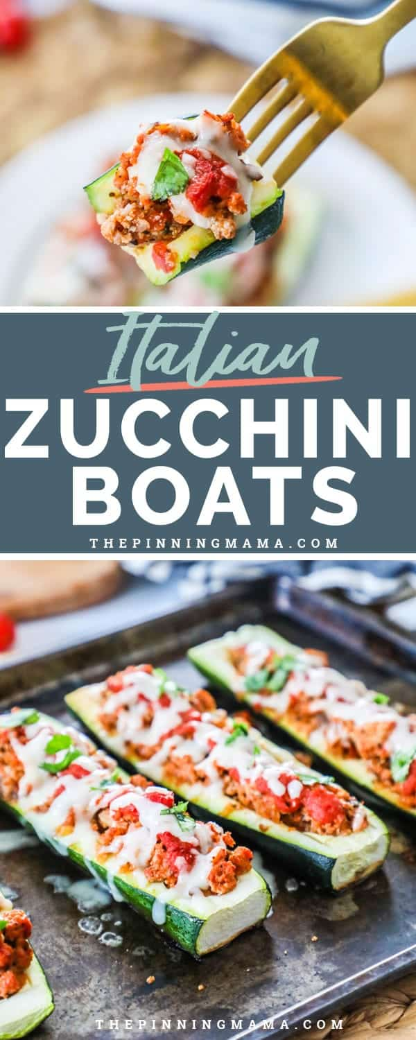 Italian Stuffed Zucchini Boats are delicious and wholesome for the whole family to enjoy.