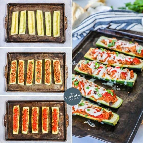 Easy and Delicious Italian Zucchini Boats.