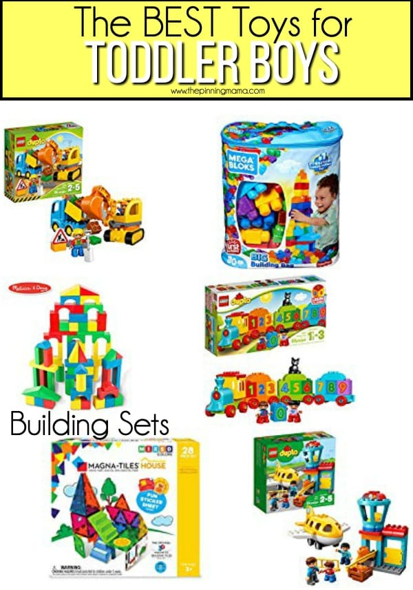 The BEST building sets for toddler boys.