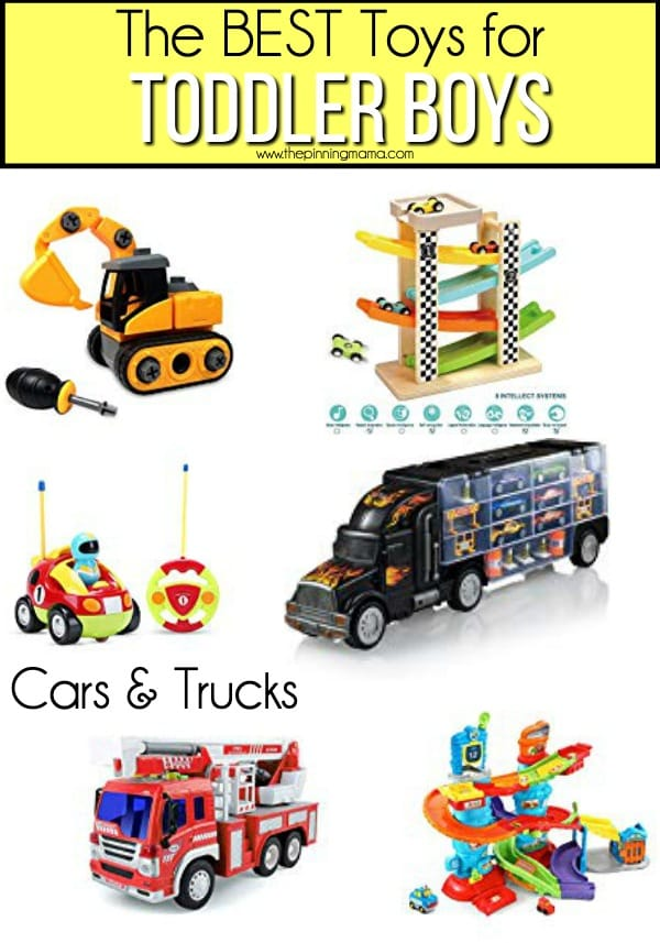 The BEST Car & Truck toy ideas for toddler boys.