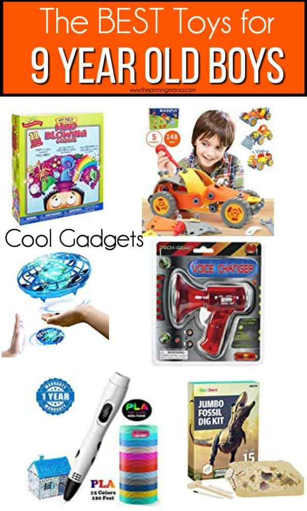 The BEST cool gadget toy ideas for 9 year old boys.
