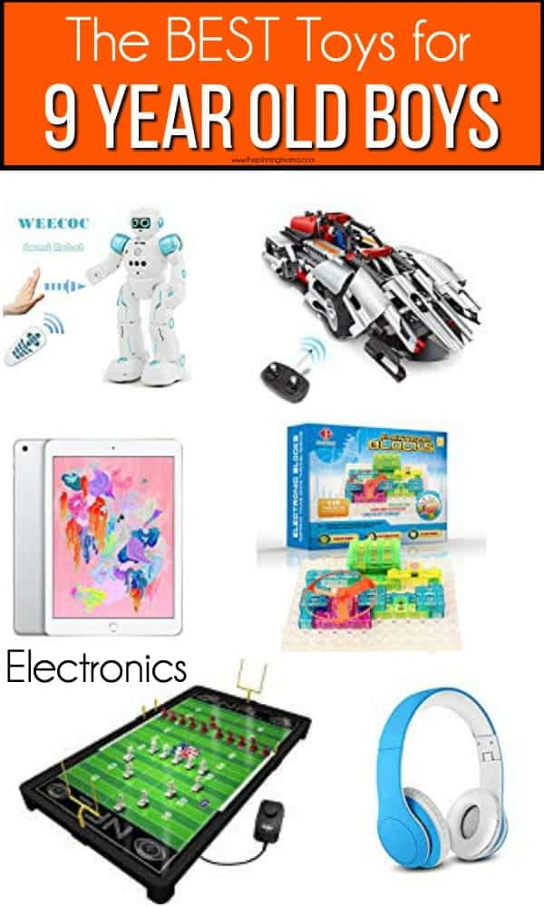 The BEST electronic toy ideas for 9 year old boys.