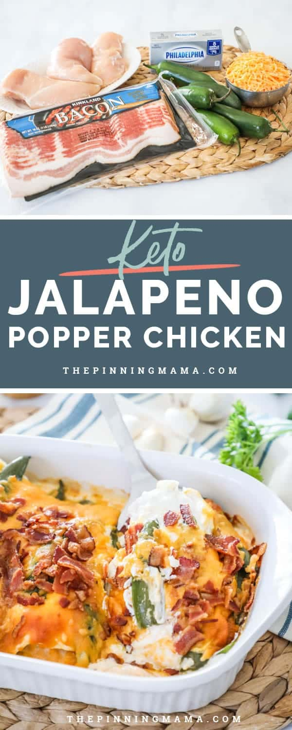 Low carb jalapeño popper chicken is a delicious and easy recipe to make.