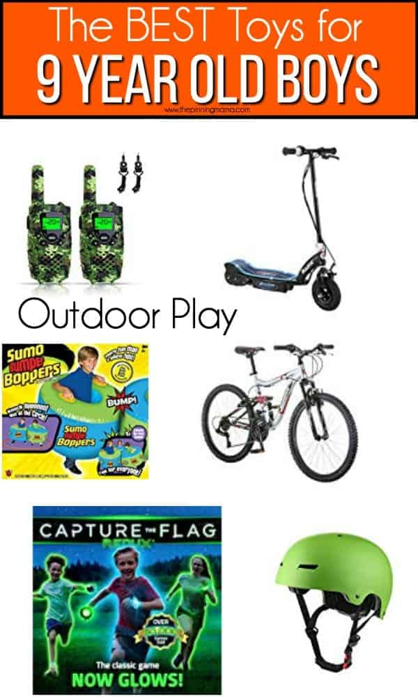 The BEST outdoor play toy ideas for 9 year old boys.