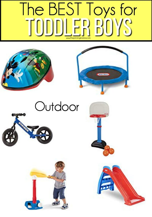 The BEST outdoor toy ideas for toddler boys.