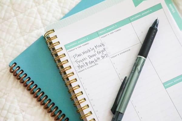 Daily Tasks in Planner