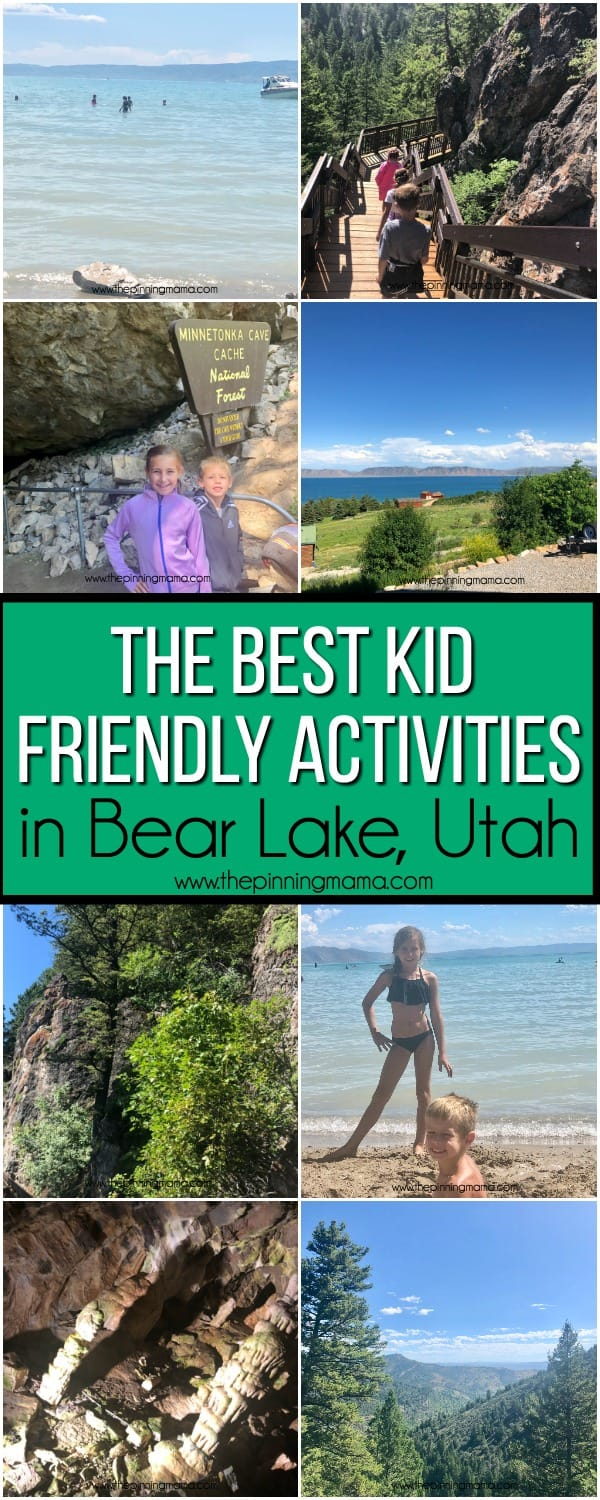 The BEST Kid Friendly Activities in Bear Lake Utah/Idaho.
