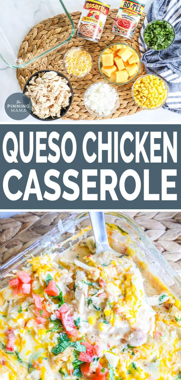 Ingredients for Queso Chicken Casserole