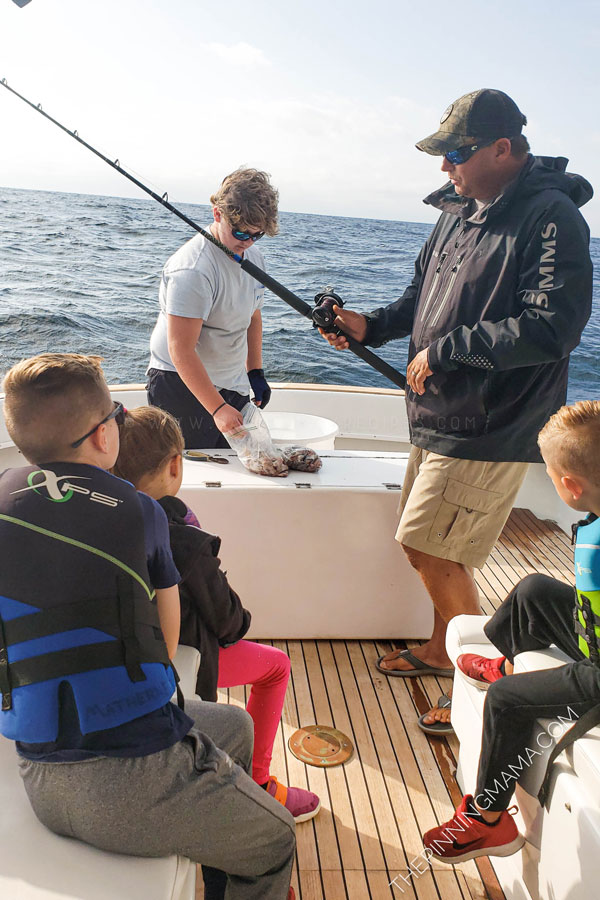 Captain Kevin teaches kids how to deep sea fish for red snapper and trigger fish