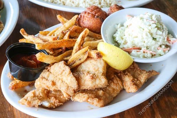 Freshly Fried Fish at Harbor Docks in Destin FL